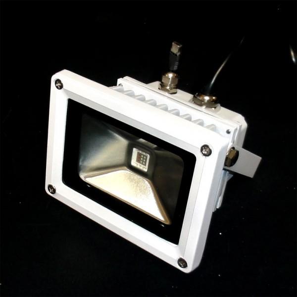 10 watt led rgb strahler fluter mit infrarot fb led. Black Bedroom Furniture Sets. Home Design Ideas