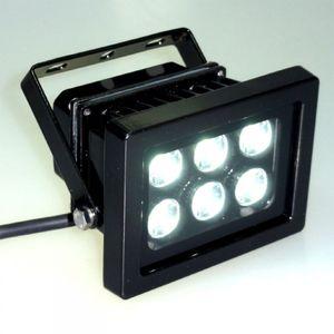 High Power 6x1 W LED Spot Strahler KALT WEISS IP65
