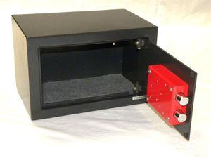 Tresor Safe Möbeltresor mit 2 x Doppelbart-Schlüssel -  ca.12l - ANTHRAZIT