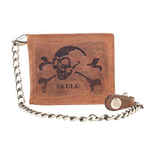 Greenburry Herren Geldbörse 1796 Skull Antik Braun