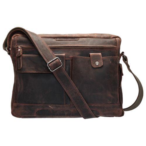 Greenburry Schultertasche Saddle-Bag Vintage Revival Tobacco