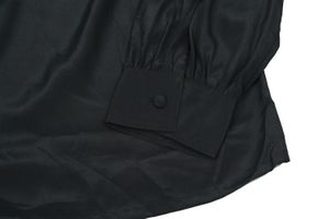 Neu! MARIO ROSELLA Bluse Gr. 36 Schwarz Langarm – Bild 3