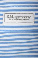 Neu! B.M. COMPANY Bluse Gr. 40 Blau/Weiß gestreift Lang – Bild 3