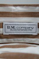 Neu! B.M. COMPANY Bluse Gr. 36 Braun/Weiß gestreift – Bild 2