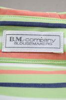 Neu! B.M. COMPANY Bluse Gr. 38 Grün gestreift Langarm – Bild 3