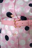 NEU! KUHN Kleid Gr. 48 Rosa gepunktet mit Gürtel – Bild 2