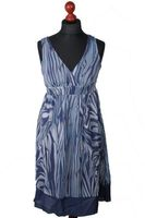 NEU! BONPRIX COLLECTION Kleid Gr. 42 Blau gemustert – Bild 1