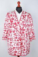 DANIEL LICHTENSTEIN Blazer Gr. 42 Rot/Weiß Baumwolle – Bild 1