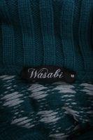 Neu! WASABI Pullover Gr. M Petrol/Weiß Wolle Strick – Bild 5