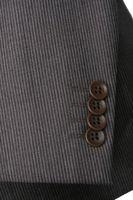 CHRISTIAN BERG Anzug Gr. 50 Braun gestreift SUPER 130 – Bild 3