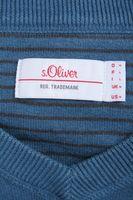 S.OLIVER Pullover Gr. M Blau Baumwolle V-Kragen – Bild 4