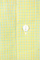 SEIDENSTICKER Hemd Gr. 42 Gelb kariert Kurzarm Button-Down – Bild 3