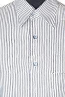 SIGNUM Hemd Gr. 41 Schwarz/Weiß gestreift Langarm Baumwolle – Bild 2