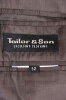 TAILOR&SONS Anzug Gr. 52 Braun 3-Knopf mit Schurwolle – Bild 4