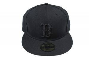 Neu! BOSTON RED SOX New Era Kappe Gr. 6 7/8 Schwarz Baseball Cap