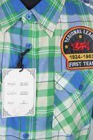 Neu! RAWBLUE Hemd Gr. XL Blau/Grün kariert mit Baumwolle Kurzarm – Bild 2