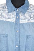 Neu! TALLY WEIJL Jeansbluse Gr. 42 Blau Baumwolle – Bild 2