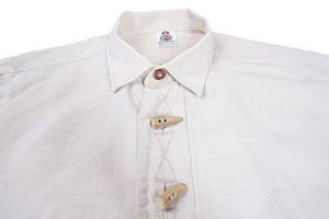 AMANN Trachtenhemd Gr. 40 Beige Leinen Langarm REGULAR FIT – Bild 1