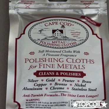 2 x Cape Cod Metal Polishing Cloths