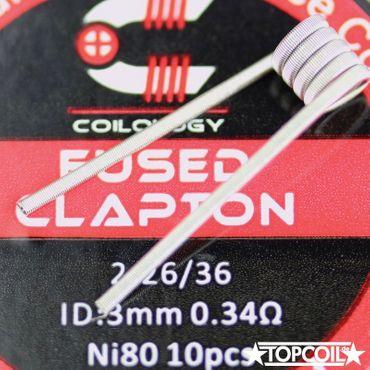 10x Fused Clapton NiChrom 0,34Ohm