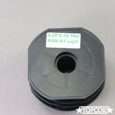 10m K-A1 Flachdraht 0.25 x 0.12mm AWG 32