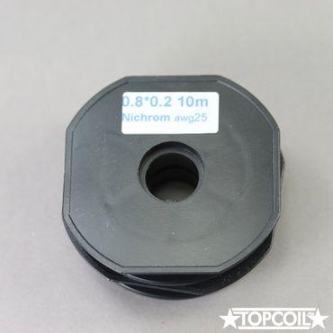 10m NiChrom Flachdraht 0.8 x 0.2mm AWG 25