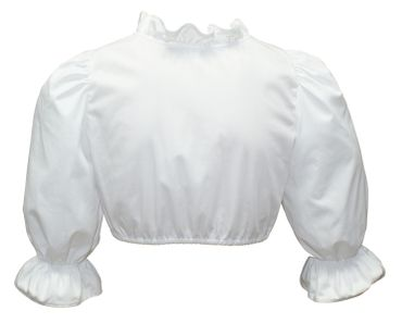 Dirndlbluse langarm Trachtenbluse für Dirndl Bluse Trachten Mode weiß waschbar  – Bild 2