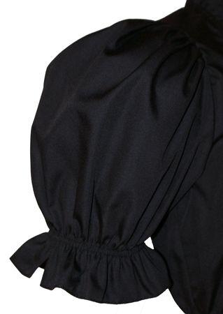 Dirndlbluse Trachtenbluse Dirndl-Bluse Trachtenmode Fest-Tracht schwarz kurzarm – Bild 7