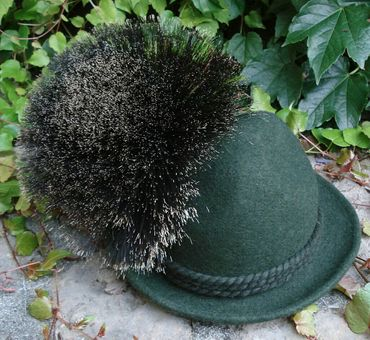 Gamsbart extra groß + Hülse ohne Trachten-Hut Trachtenhut Gemse Jagd Gams Gämse – Bild 2