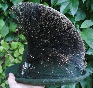 Gamsbart extra groß + Hülse ohne Trachten-Hut Trachtenhut Gemse Jagd Gams Gämse – Bild 5