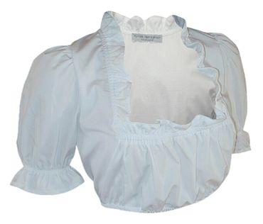 Dirndlbluse kurzarm Trachtenbluse für Dirndl Bluse Trachten Mode weiß waschbar – Bild 1