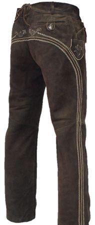 Lederhose Trachtenhose Trachtenlederhose lang braun Träger Trachten Leder Hose – Bild 9