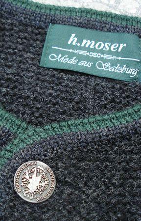 Trachten Strickweste Strickjacke Woll-Jacke Trachtenjacke Trachtenjanker du.grau – Bild 5