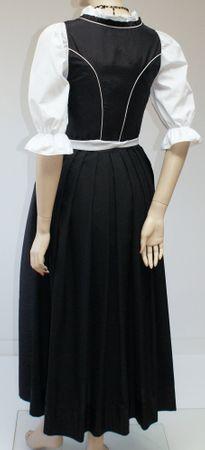 Fest-Dirndl Festtracht Trachten-Kleid Trachtenkleid Dirndlkleid schwarz-weiß – Bild 5