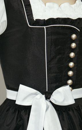 Fest-Dirndl Festtracht Trachten-Kleid Trachtenkleid Dirndlkleid schwarz-weiß – Bild 3