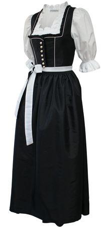 Fest-Dirndl Festtracht Trachten-Kleid Trachtenkleid Dirndlkleid schwarz-weiß