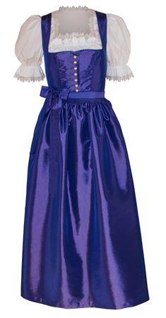 Dirndl Festtracht 34 Trachten-Kleid Dirndlkleid Ballkleid Taft Ball lila violett