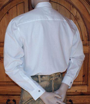 Trachtenhemd Stehkragen Trachten-Pfoadl Hemd Hirtenhemd Trachtenpfoadl weiß – Bild 2