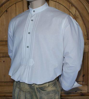 Trachtenhemd Stehkragen Trachten-Pfoadl Hemd Hirtenhemd Trachtenpfoadl weiß – Bild 6