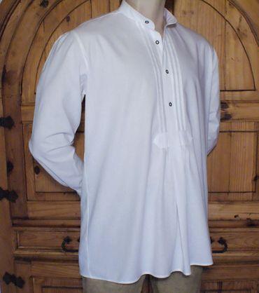 Trachtenhemd Stehkragen Trachten-Pfoadl Hemd Hirtenhemd Trachtenpfoadl weiß – Bild 7