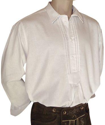Trachtenhemd weit Trachten-Pfoadl Musiker-Hemd Hirtenhemd Trachtenpfoadl weiss – Bild 1