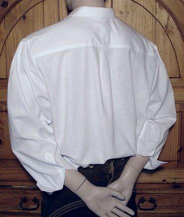 Trachtenhemd weit Trachten-Pfoadl Musiker-Hemd Hirtenhemd Trachtenpfoadl weiss – Bild 2