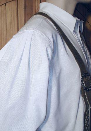Trachtenhemd weit Trachten-Pfoadl Musiker-Hemd Hirtenhemd Trachtenpfoadl weiss – Bild 4