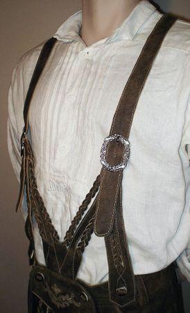 Lederhose Tracht Hose speckig braun Trachtenlederhose Kniebundhose Trachtenhose – Bild 6