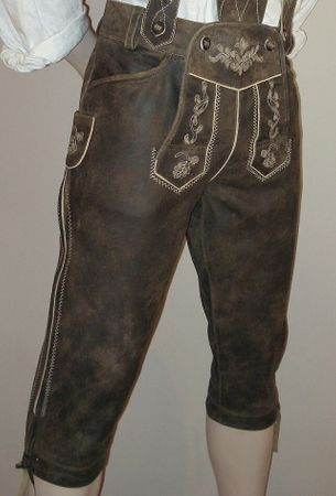 Lederhose Tracht Hose speckig braun Trachtenlederhose Kniebundhose Trachtenhose – Bild 10