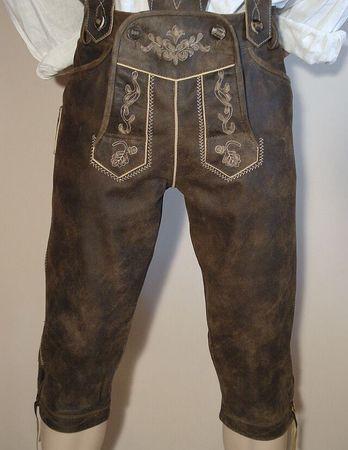 Lederhose Tracht Hose speckig braun Trachtenlederhose Kniebundhose Trachtenhose – Bild 7