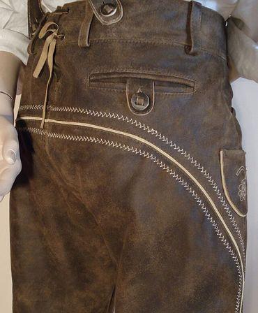 Lederhose Tracht Hose speckig braun Trachtenlederhose Kniebundhose Trachtenhose – Bild 5