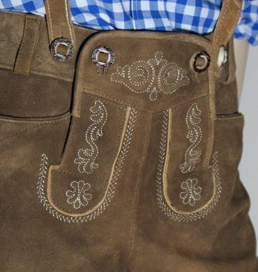 Trachten-Kinderlederhose Kinder-Lederhose Leder-Hose kurz Trachtenhose braun – Bild 4