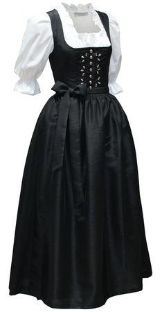 Dirndl Festtracht Kristall Kleid Trachtenkleid Dirndlkleid Ballkleid schwarz