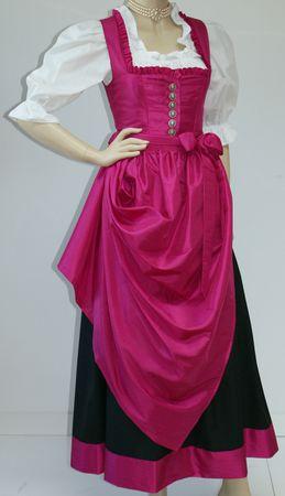 Dirndl Festtracht Trachten-Kleid Trachtenkleid Dirndlkleid Ballkleid pink rosa – Bild 6